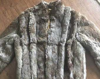 Vintage Ada Rabbit Fur Coat