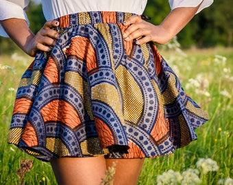 African Cirle Mini Skirt