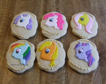 6 My Little Pony cookies