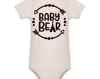 Baby Bear white cotton bodysuit - romper
