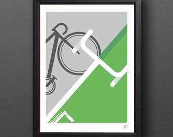 Bike Art, Abstract Tour de France Print - SPRINTER