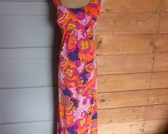 Vintage 1960s Catalina Psychedelic Beach Dress