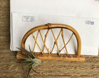Vintage  bamboo letter holder