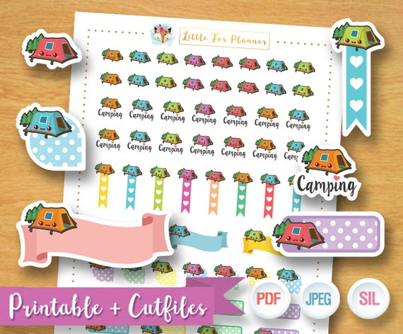 C&ing Stickers C& Stickers Tent Stickers C&life Adventure C&fire Outdoor Stickers Printable Planner Stickers Instant Download from ...  sc 1 st  Etsy Studio & Camping Stickers Camp Stickers Tent Stickers Camplife ...