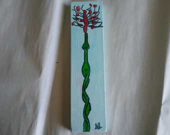 Naked Lady Flower drawing with blue background