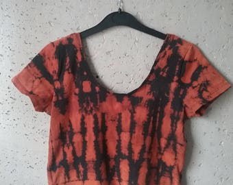 Sexy Croptop size M-L, party top, bleach, hipster