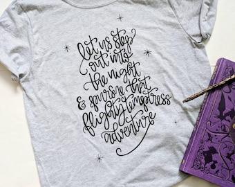 Preorder | Gray | Harry Potter quote shirt | Flighty Temptress Adventure | Harry Potter tee | Dumbledore quote | Unisex tee