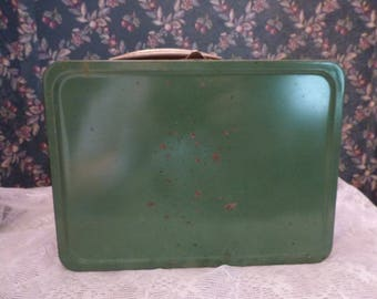 Vintage Green thermos brand work lunch box