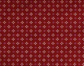 Red pattern fabric chart 110 cm width