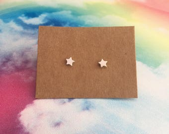 Sterling Silver Star Earrings, Sterling Silver Stars Earrings, Valentines Gifts for Her, Star Studs