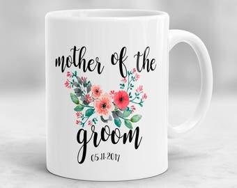 Mother of the Groom Mug, Mother of the Groom Gift, Mother in Law Mug, Custom Wedding Mug, Wedding Gift P111