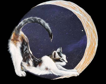 Cat with the Silver Moon