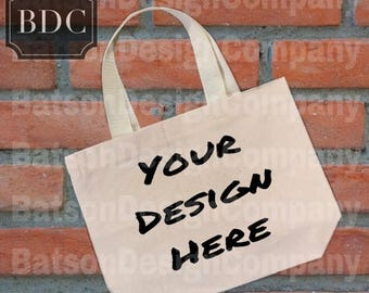 Back to School Sale Canvas Bag Mock-up Instant Download Mockup   Mock-ups Brick Background JPEG File   Commercial Use