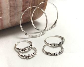 Helix Balinese Hoops. Helix Bali Hoops Earrings.