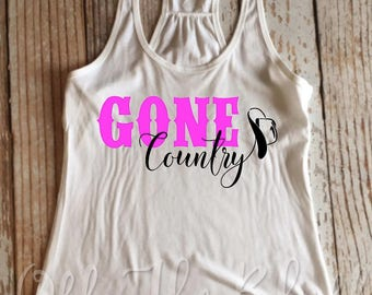 Gone Country Racerback Tank