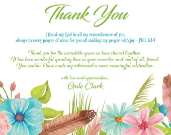 Thank You I Personalized | Greeting | Card