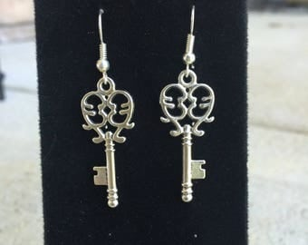 Skeleton Key Earrings, Keys, Key Earrings, Key Jewelry, Skeleton Keys