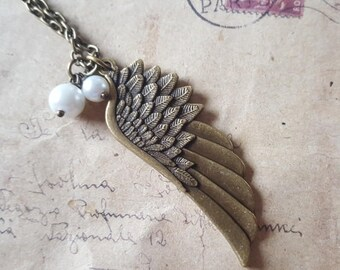 Wing necklace ~ bronze ~.