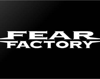 Fear Factory Vinyl Decal Car Window Laptop Metal Band Sticker