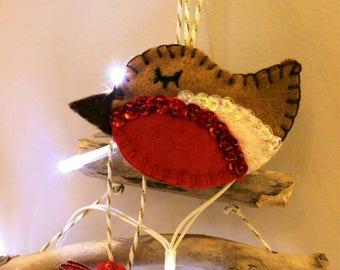 Robin Christmas Tree Decoration / Ornament / Personalised Tree Decoration / Christmas Tree Ornament / Christmas Tree Decoration / Robin