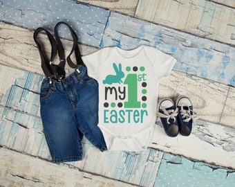 My First Easter Boy Onesie, Easter Outfit, Boy's Clothing