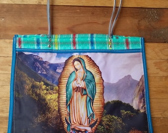 Market Bag, Virgen, Beach Bag, Eco Friendly, Mexican bag, Multi use bag, Gifts for her, Reusable bag, Recyclable bag, Environment