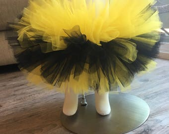 bumble bee baby girl tutu, 1st bday outfit, baby girl fashion clothes, photo prop tutu skirt baby girl, newborn tutu outfits