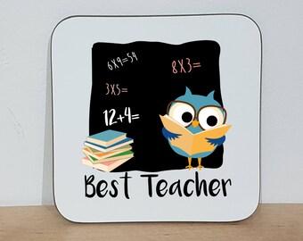 Best Teacher Coaster | Cute Coaster | Teacher Gift |  End of Term Gift | Best Teacher Gift | Primary School Teacher present | Custom Coaster