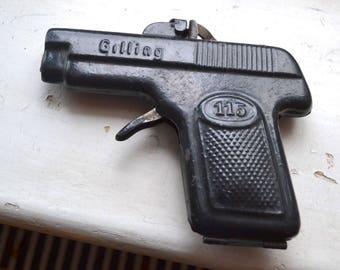 Vintage cap gun pistol tinplate Gilling 115 model made in Germany working