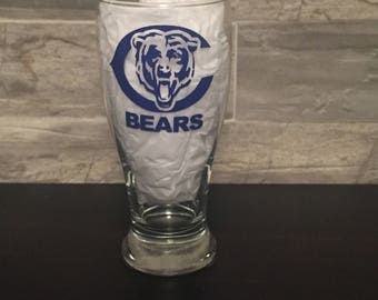 Beer and Bears make me happy Pilsner glass