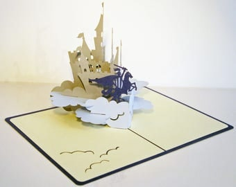"""Card """"Knight"""" Kirigami Ref: 16 08 10"""