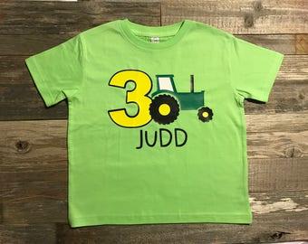 tractor birthday shirt, farm theme, toddler birthday