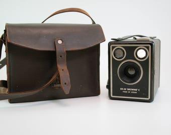 Vintage Six-20 Brownie C Kodak Box Camera-  Kodak LTD London Box Camera