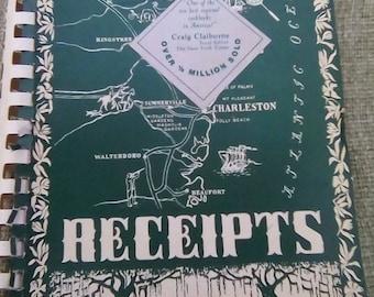 Vintage Spiral Bound Charleston South Carolina Receipts Junior League 1950