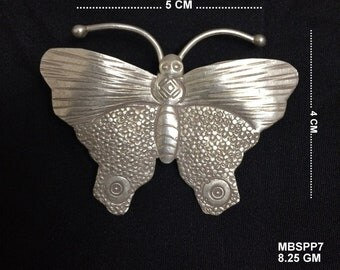 92.5 Vintage Sterling Silver Butterfly Pendant Necklace Jewelry Ornament India