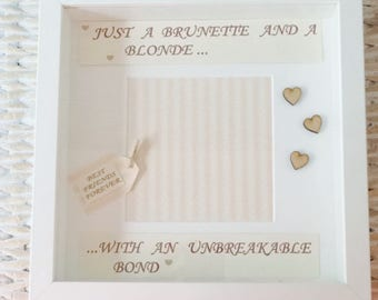 Brunette and Blonde Handmade Friendship Frame