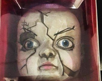 Doll head horror, creepy doll head, baby zombie, zombie doll, zombie doll
