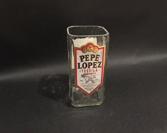HANDCRAFTED Up-Cycled 750ML Pepe Lopez Tequila BOTTLE Soy Candle Made To Order !!