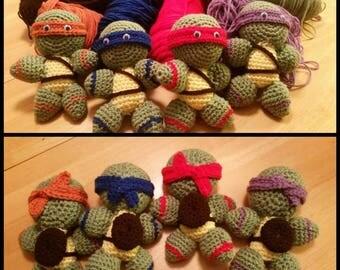 Ninja turtle amigurumi pattern