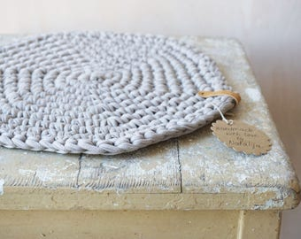 Seat cushion seat beige / sand crochet