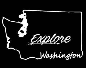 Washington Explore Vinyl Decal