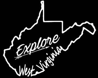West Virginia Explore Vinyl Decal