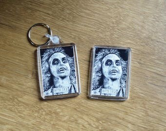 BeetleJuice Keyring and Magnet (Pen Drawing)