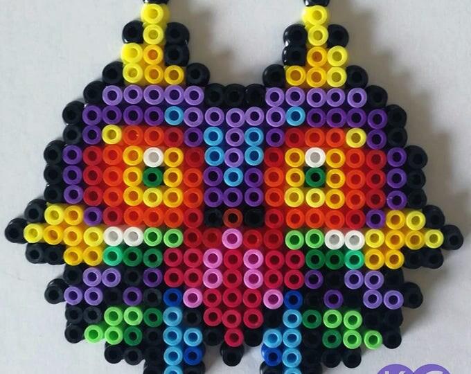 Majora's Mask Inspired,, Fridge magnets, perler beads, bead art, Zelda game, Fridge art, 8bit, pixel art, Coloured beads, Bead magnets