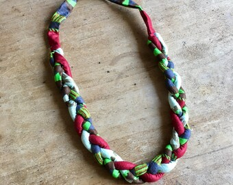 Fabric Statment Necklace