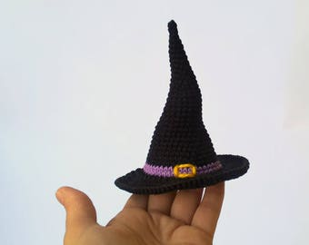 Halloween Witches Hat, Halloween Hat Toy, Black hat dolls, Halloween decor, Halloween gift, Witch hat toy, Toy hat, doll hat, Witch's cap