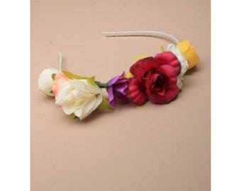 Flower hairband Girls Hairband, Headband Alice Band, garland flower  girls headband, bridesmaid hairbands, wedding flower hairband