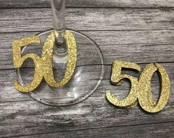 50th Birthday Party Straws 50th Anniversary Fiftieth Birthday