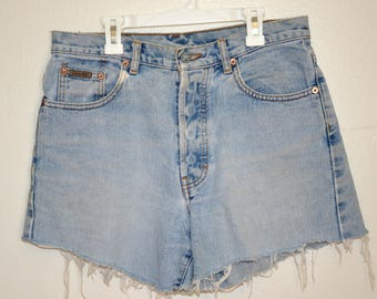 Calvin Klein Vintage High Waisted Cut-Off Shorts