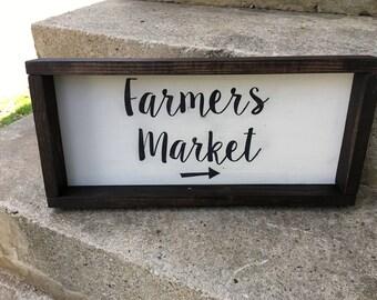Farmer's Market Reclaimed Wood Sign